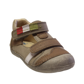 D.D. Step fiú bőr cipő 015-99B