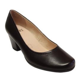 Női magassarkú bőr cipő 9-22411-26