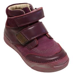 Lány magasszárú  bőr cipő 040-22E