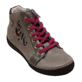 Lány magasszárú bőr cipő 036-69A
